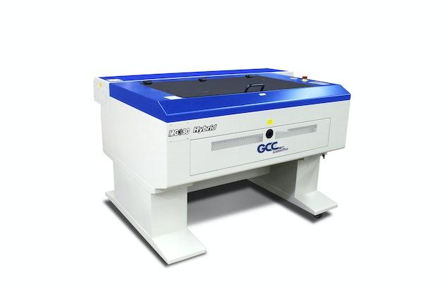 GCC MG380 Hybrid lasermaskin sett fra venstre