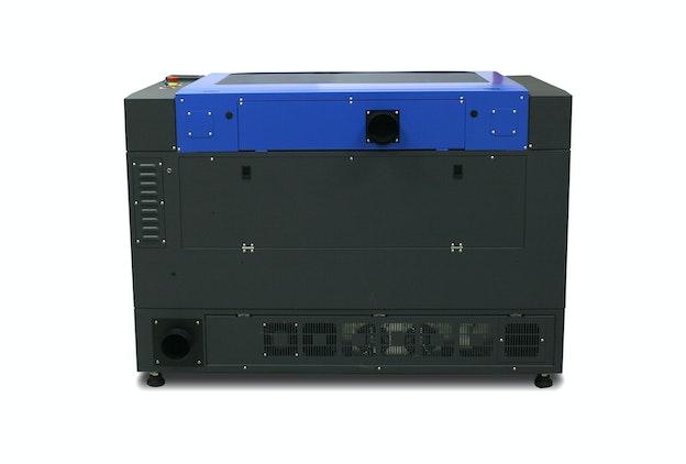 GCC S400 lasermaskin sett fra baksiden
