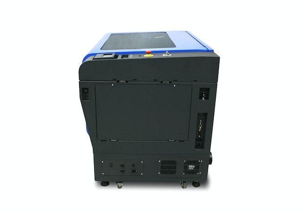 GCC S400 lasermaskin sett fra siden høyre