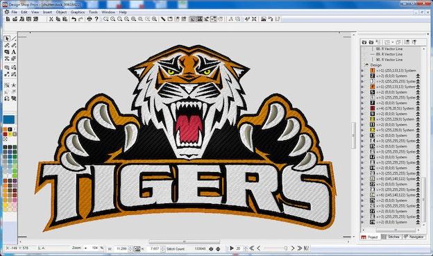 Melco Design Shop screenshot med tiger
