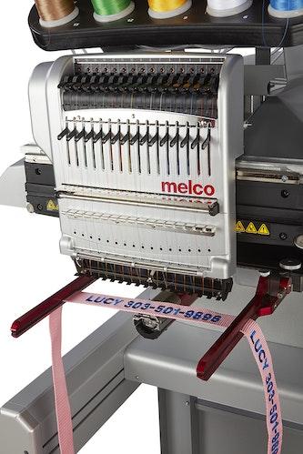 Melco EMT16 X broderingsmaskin med Fast clamp pro ramme ovenfra