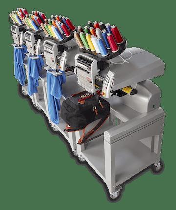 Melco EMT16 X broderingsmaskiner linje