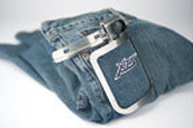 Melco amaya microclamp on jeans