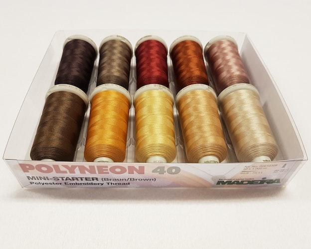Madeira fargefamilie Polyeon brun