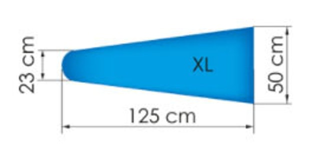 Trevil Aliflex XL bordstørrelse