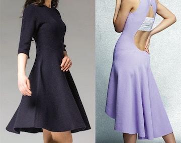 3d-strikking av hele kjoler i én operasjon
