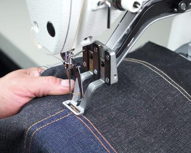Trensemaskin for jeans og tykke materialer tykk tråd