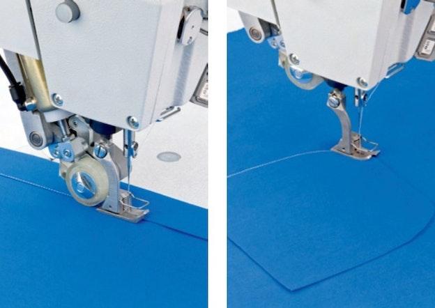 Symaskin med pullertransport til konfeksjon